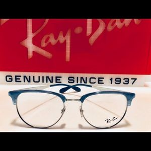 Ray-Ban Eyeglasses Light Blue on Silver New 53mm